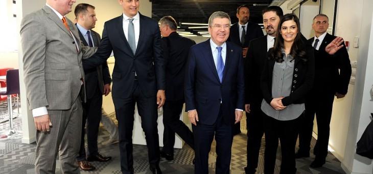 (VIDEO) TOMAS BAH GOST ADRIA MEDIA GRUPE: Pogledajte posetu predsednika MOK-a našoj kući!