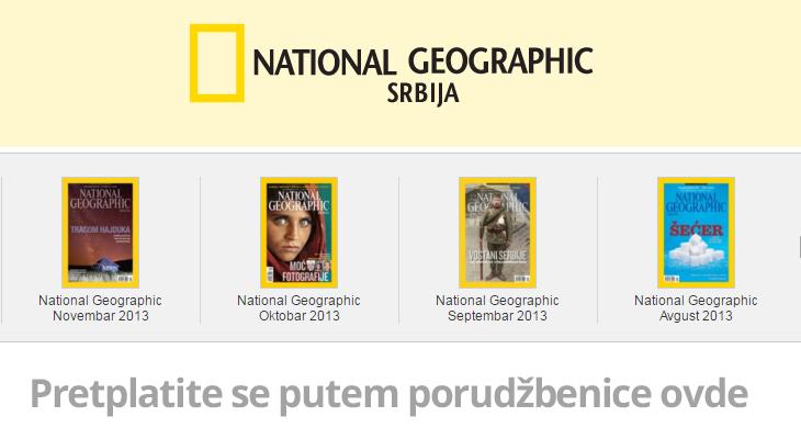 Pretplatite se na National Geographic