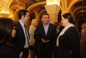(From left to right) Sonja Lakić, glavna i odgovorna urednica portala Kurir.rs, Predrag Roganović, direktor digitalnih medija AMG, Aleksandar Grbović, upravnik KPZ Niš i Anđela Popović, urednik-organizator filma