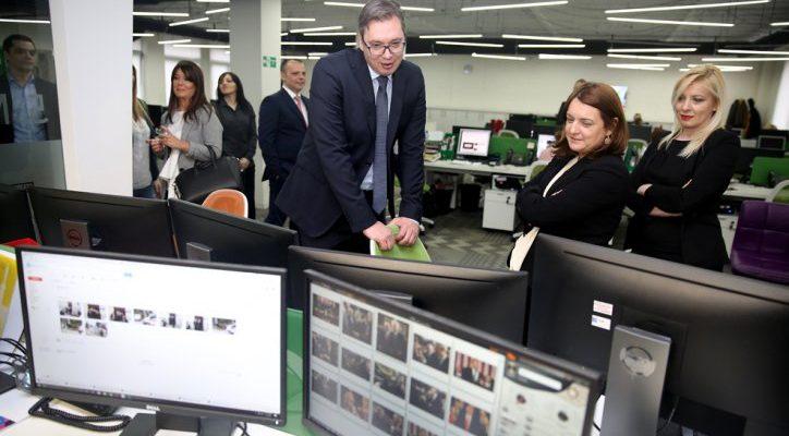 Premijer Aleksandar Vučić posetio Adria Media Grupu