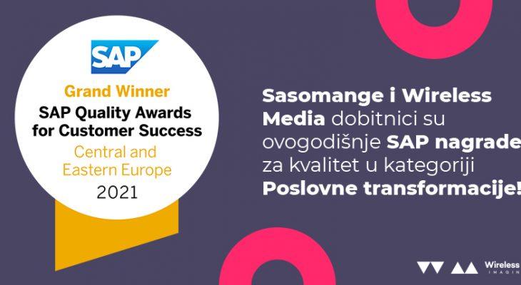 "SASOMANGE AND WIRELESS MEDIA WIN SAP ""CUSTOMER AWARD FOR QUALITY SUCCESS"""